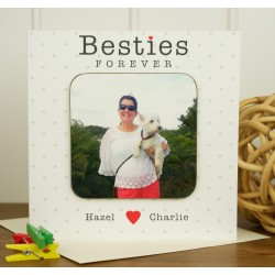 Besties Forever Personalised Westie Coaster Card