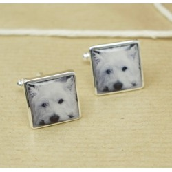 Personalised Westie Photo Cufflinks