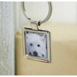 Personalised Westie Photo Key Ring