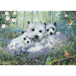 Westie in the Woods 1000 Piece Jigsaw- West Highland White Terrier
