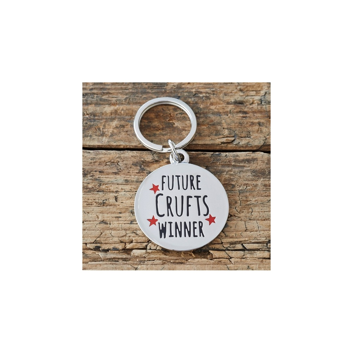 'Future Crufts Winner' Dog ID Tag | Designer Pet ID Tags Engraved