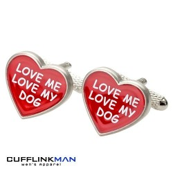 Love Me Love My Dog Cufflinks