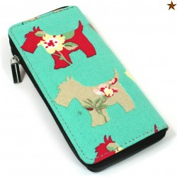 Mint Westie Cotton Long Purse