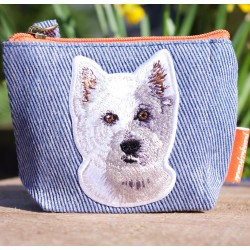 Westie Denim Cotton PurseCatalog   Products