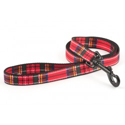 Red Tartan Westie Lead - By Ancol