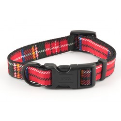 Red Tartan Westie Collar - By Ancol