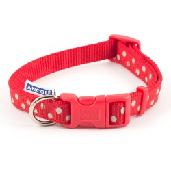 Perfect Polka Red Westie Collar