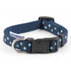 Perfect Polka Navy Westie Collar - By Ancol