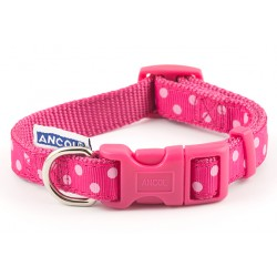 Perfect Polka Raspberry Westie Collar - By Ancol