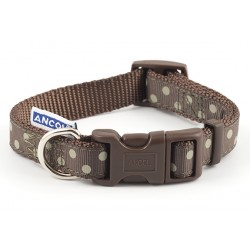 Perfect Polka Mocha Westie Collar - By Ancol