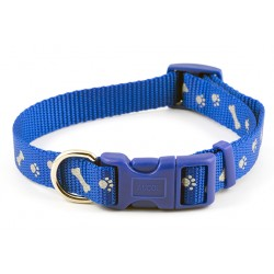Reflective Paw n Bone Bright Blue Westie Collar - By Ancol