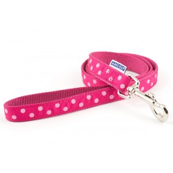 Perfect Polka Raspberry Westie Lead - By Ancol