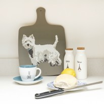 Westie Chopping Board Earth from Betty Boyns