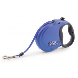 Blue Viva Retractable Lead - By Ancol