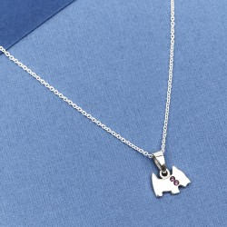 Crystal Sterling Silver Westie Charm & Necklace