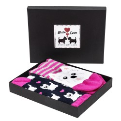 Westie Socks Boxed Gift Set | Gifts For Westie Owners