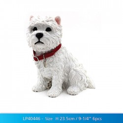 Sitting Westie Figurine - West Highland White Terrier Dog
