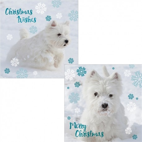 Winter Westie Christmas Cards  - Pack of 10