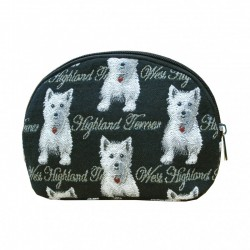 Tapestry Westie Cosmetic Bag - By Signare