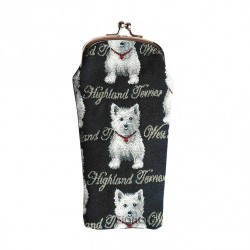 Tapestry Westie Glasses Case - By Signare
