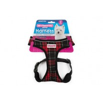 Red Tartan Comfort Dog Harness - By Ancol