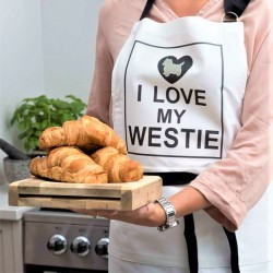 I Love My Westie Apron