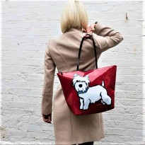 Designer Westie Shoulder Bag by Marc Tetro