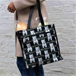 Tapestry Westie Large Shopper Bag - By Signare