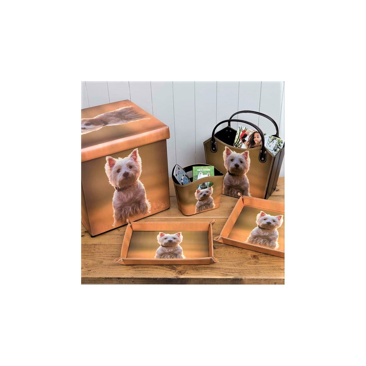 ... Westie Storage Tidy Basket