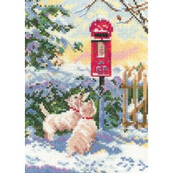 What Now? Snowy Westie Cross Stitch Kit