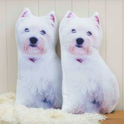 Westie Shape Cushion