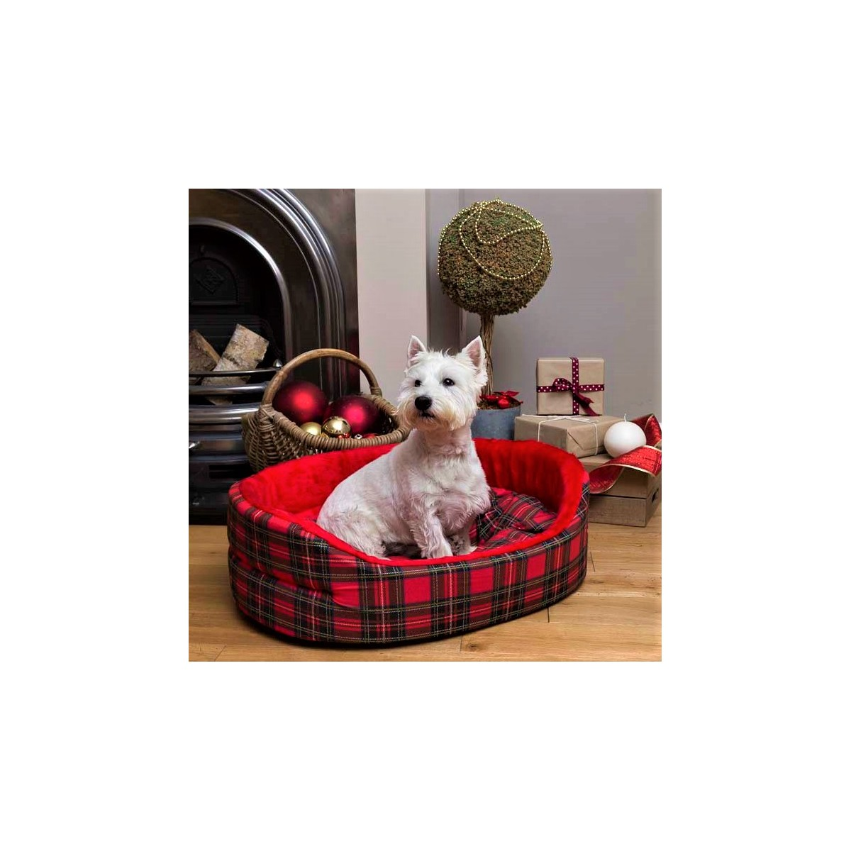 Red Tartan Dog Bed Dog Bed For West Highland White Terriers