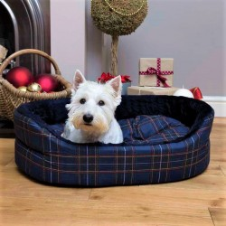 Blue Tartan Dog Superbed