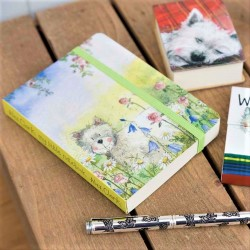 Small Westie Notebook by Alex Clark