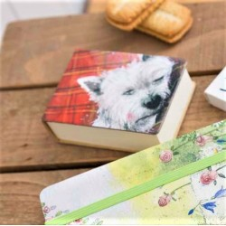 Westie Tartan Rug Notepad by Alex Clark