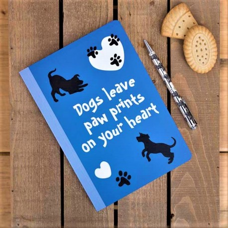 Dogs Leave Paw Prints - A5 NoteBook