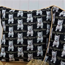 Tapestry Westie Cushion - By Signare