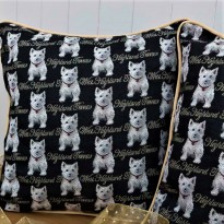 Tapestry Westie Cushion