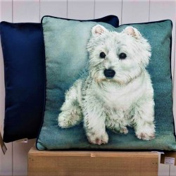 Westie Portrait Cushion