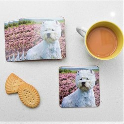 Heather Westie Coasters - West Highland Terrier - Set of 6
