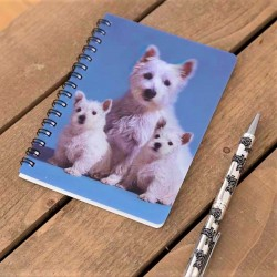 West Highland White Family Terrier 3D Notebook