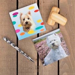 Pack of 2 Westie Magnetic Notebooks