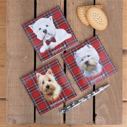 Pack of 3 Westie Tartan Magnetic Notebooks