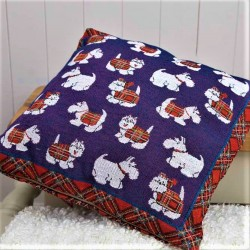 Tartan Terrier Tapestry Cushion