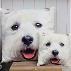 Westie Visage Cushion Large
