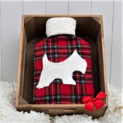 Tartan Westie Hot Water Bottle and Cover
