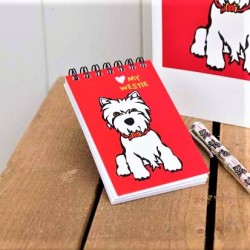Westie Spiral Notepad by Marc Tetro