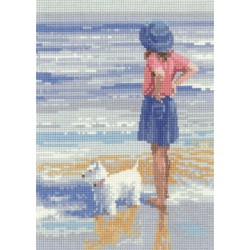Wave Watching Westie Cross Stitch Kit