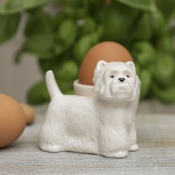 Standing Westie China Egg Cup