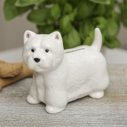 Standing Westie China Money Box